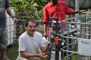 Martin Harrison, water engineer in Haiti