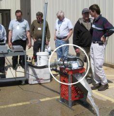 Testing a micro hydroelectric generator