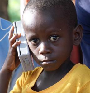 Child with SonSet Radio